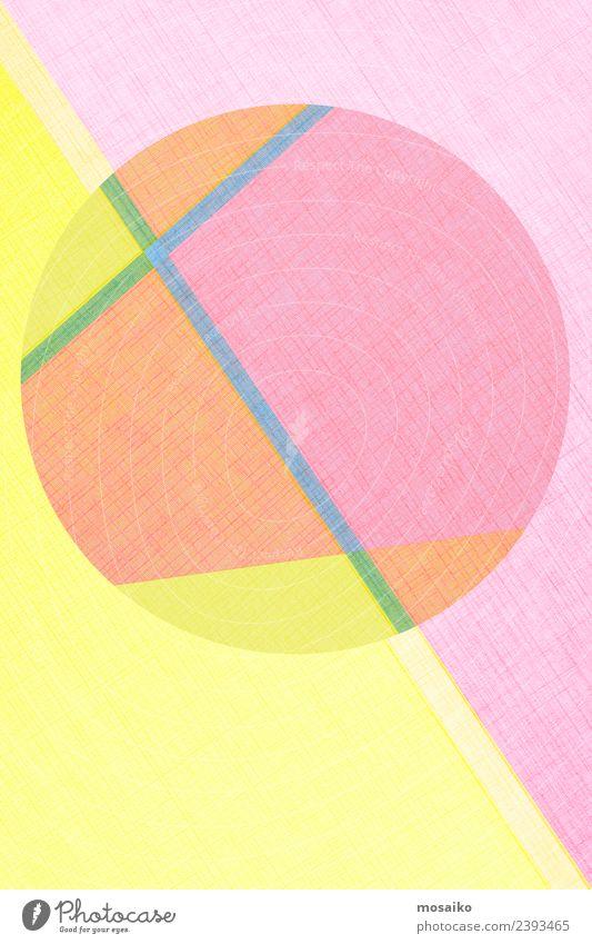 Kreisdesign - bunte Papiercollage Lifestyle Stil Design Glück Tapete Party Veranstaltung Feste & Feiern Handwerk Business Internet Kunst Kunstwerk Mode Paket