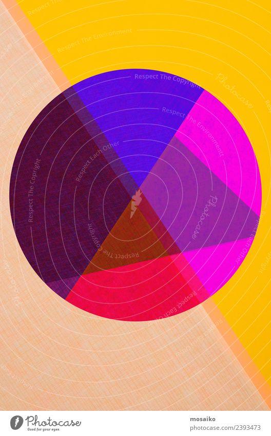 Kreisdesign - bunte Papiercollage Lifestyle elegant Stil Design Freude Feste & Feiern Karneval Jahrmarkt Kunst Kunstwerk Mode ästhetisch Zufriedenheit Idee