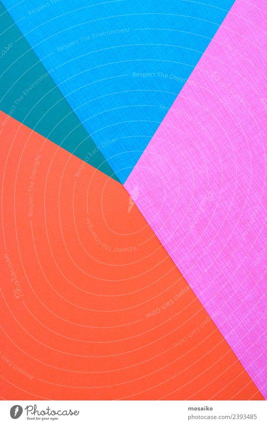 Papiercollage - Geometrische Formen - Buntes Design Lifestyle elegant Stil Entertainment Party Veranstaltung Feste & Feiern Kunst Kunstwerk Coolness Optimismus