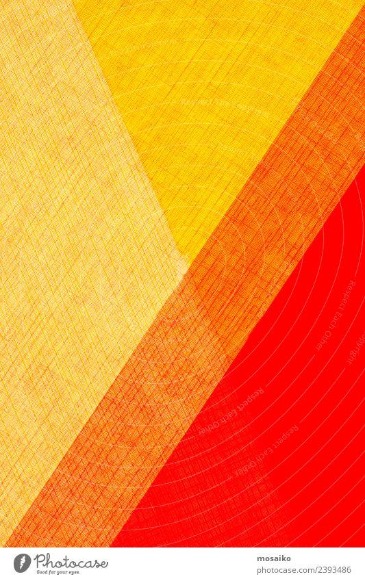 Farbspiel - rot, gelb und orange Freude Lifestyle Stil Business Kunst Feste & Feiern Design Freizeit & Hobby Zufriedenheit elegant ästhetisch Kultur Papier
