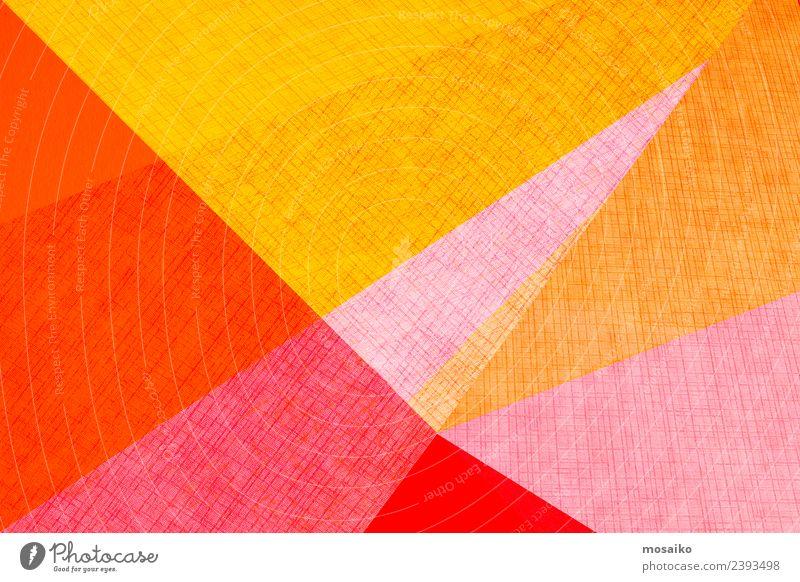 geometrische Formen auf Papierstruktur Stil Design Glück Tapete Hochzeit Business Internet Kunst Mode Paket Linie einfach hell modern Farbe Kreativität Werbung