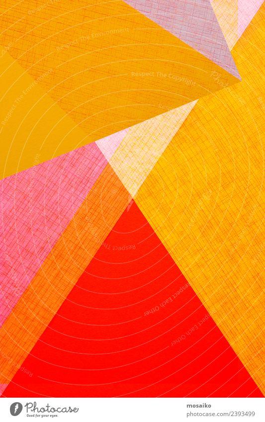 geometrische Formen auf Papierstruktur Lifestyle Stil Design Glück Tapete Hochzeit Business Kunst Mode Paket Linie einfach hell modern Farbe Kreativität Werbung