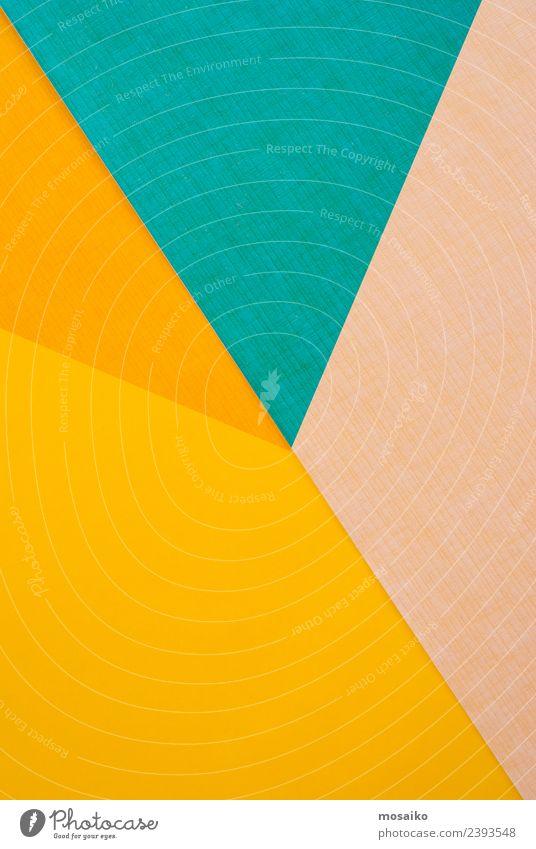 Farbspiel gelb, türkis und orange Farbe Freude Lifestyle Stil Kunst Feste & Feiern Design elegant ästhetisch Kreativität Papier Grafik u. Illustration Bildung
