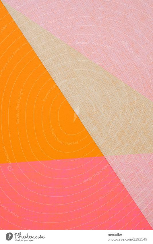 Papiercollage - Geometrische Formen - Buntes Design Lifestyle elegant Stil Entertainment Party Feste & Feiern Kunst Kunstwerk Warmherzigkeit Sympathie Romantik
