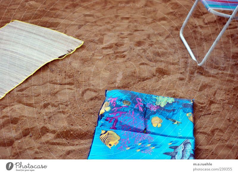 3 Sommeranfänge Stil Freizeit & Hobby Ferien & Urlaub & Reisen Tourismus Ausflug Camping Sommerurlaub Strand Stuhl Schönes Wetter Sand Matten Luftmatratze