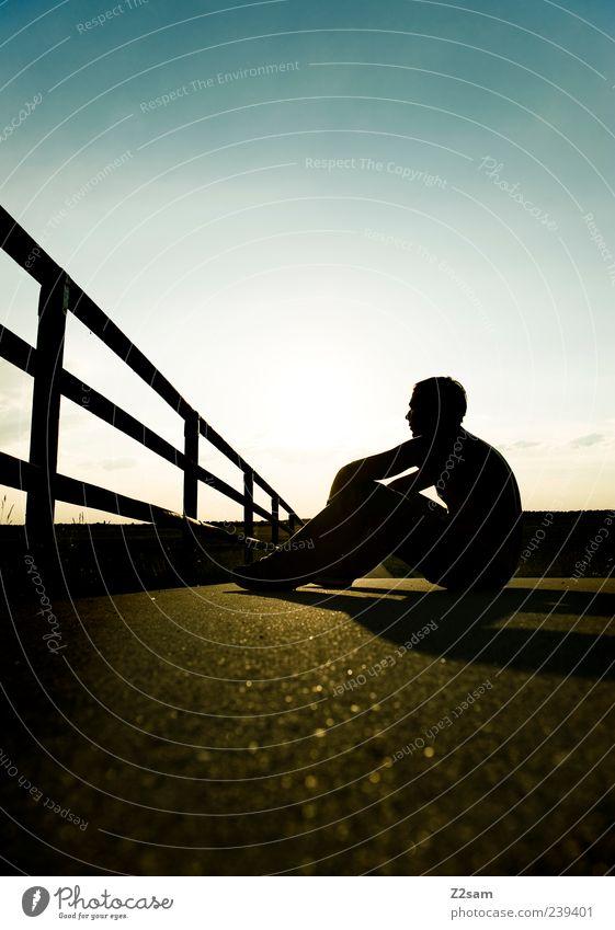 ich war so froh... Mensch Natur Jugendliche Ferien & Urlaub & Reisen Sommer Einsamkeit ruhig Erwachsene Erholung Landschaft Freiheit Glück Stil Denken träumen