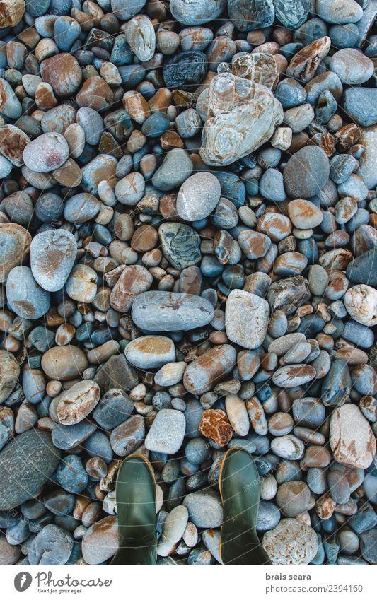 Kieselstein Hintergrund und Stiefel Design schön Ferien & Urlaub & Reisen Sommer Strand Meer Dekoration & Verzierung Tapete Fuß 1 Mensch Menschengruppe Umwelt