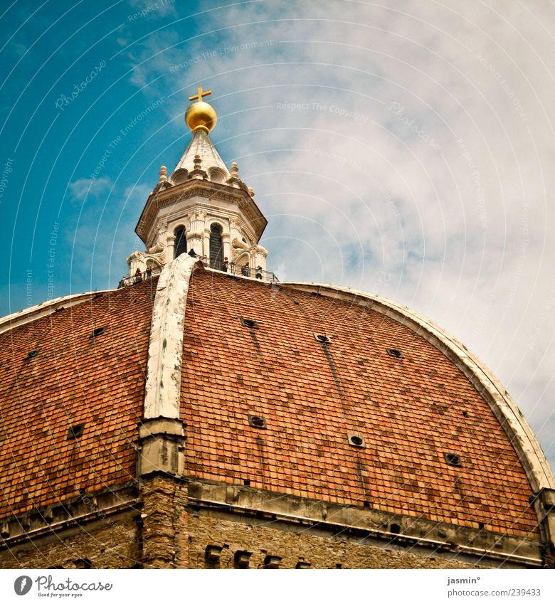 Firenze #1 Himmel alt Wolken Architektur Bauwerk historisch Wahrzeichen aufwärts Stadtzentrum Dom Sehenswürdigkeit Anschnitt Bildausschnitt Bekanntheit