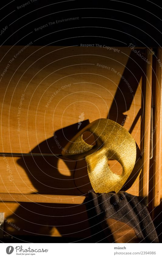 Theater Bildung lernen Handwerk sprechen Kunst Theaterschauspiel Bühne Schauspieler Holz Maske Kommunizieren glänzend gold Macht Abenteuer Angst Einsamkeit