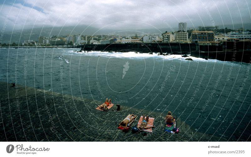 Puerto de la Cruz Mensch Wolken Farbe Europa Spanien Kanaren überblicken Teneriffa Puerto de la Cruz