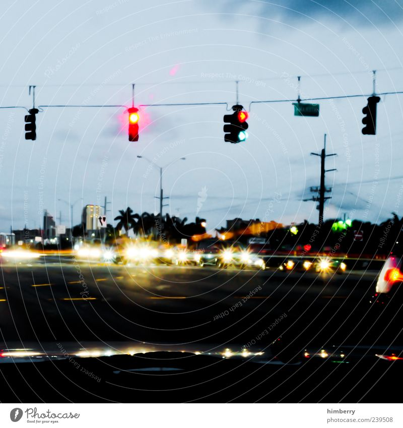 american way grün Stadt rot Straße Bewegung Wege & Pfade PKW Ordnung Energie Beginn Verkehr USA Verkehrswege chaotisch Amerika Fahrzeug