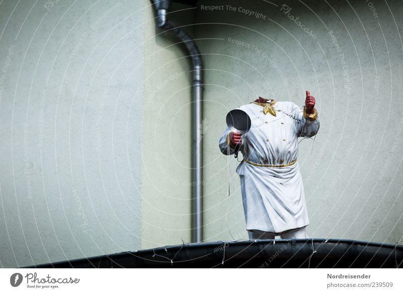 Der Fugu - Meister dunkel Ernährung Wand Mauer Gebäude Arbeit & Erwerbstätigkeit außergewöhnlich kaputt bedrohlich Gastronomie gruselig skurril Figur bizarr