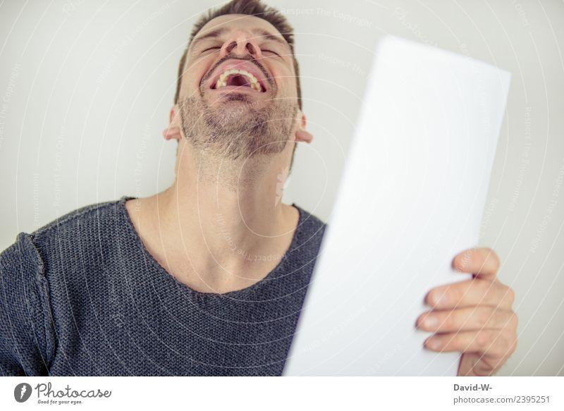 zum totlachen Lifestyle Stil Freude Zufriedenheit Bildung Lehrer Prüfung & Examen Urkunde Büroarbeit Business Erfolg Mensch maskulin Junger Mann Jugendliche