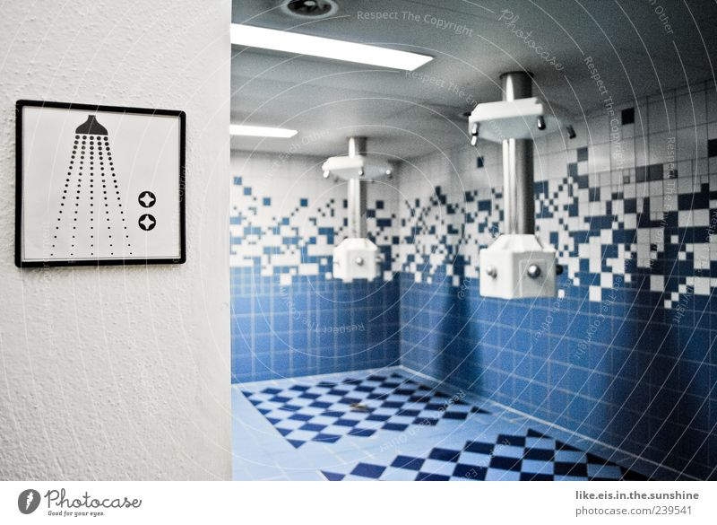 das beste am training (I) außergewöhnlich nass modern Sauberkeit Fliesen u. Kacheln Dusche (Installation) Piktogramm Spa blau Sanitäranlagen Duschraum Duschkopf