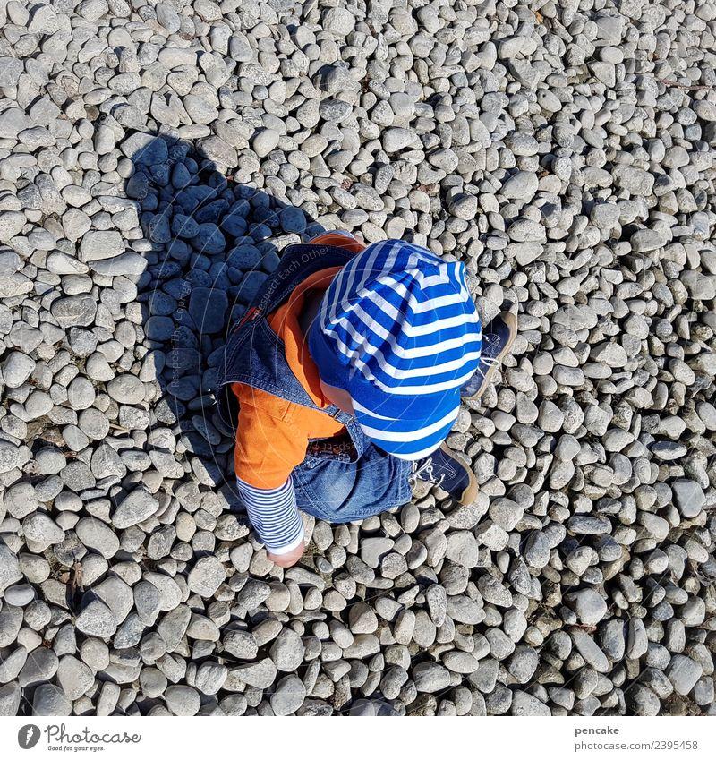 steinig | kleiner millionär Kleinkind 1 Mensch 1-3 Jahre Natur Urelemente Sommer Schönes Wetter Seeufer Stein gebrauchen berühren entdecken Spielen Neugier