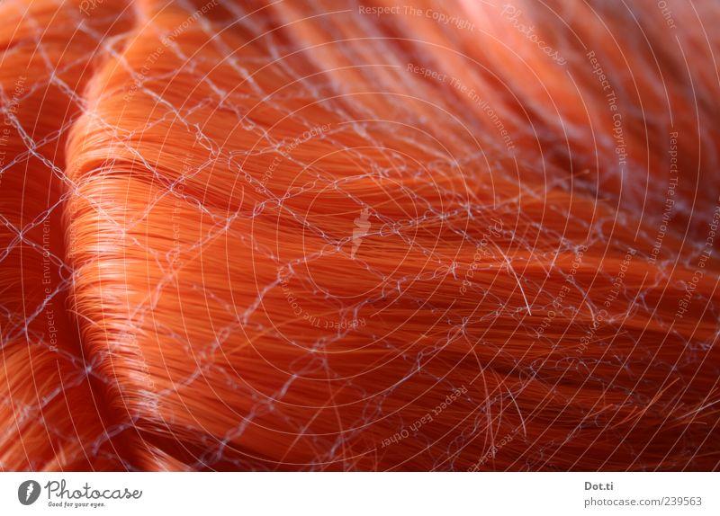 Rollgardinas Haarerlass rot Haare & Frisuren glänzend falsch rothaarig filigran Scheitel künstlich Behaarung Perücke Muster