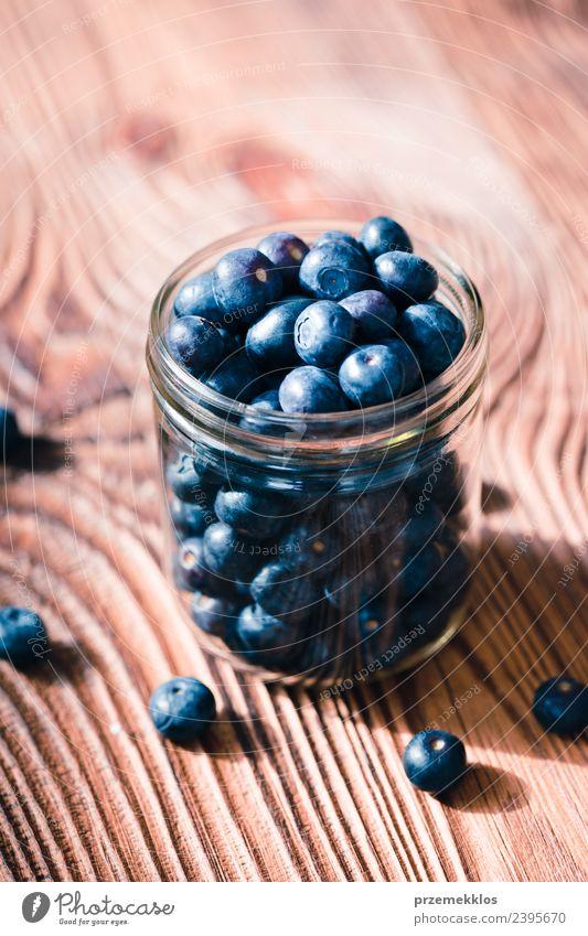 Natur blau Sommer natürlich Holz Frucht Ernährung frisch Tisch lecker Ernte reif Beeren Schalen & Schüsseln Vegetarische Ernährung Vitamin