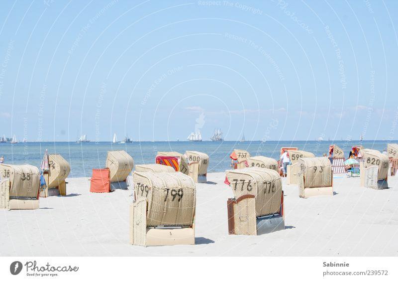 Kieler Woche Gedenkfoto #1 Himmel blau weiß Ferien & Urlaub & Reisen Sommer Meer Strand Ferne Küste Sand Ausflug Tourismus viele Ziffern & Zahlen Schönes Wetter