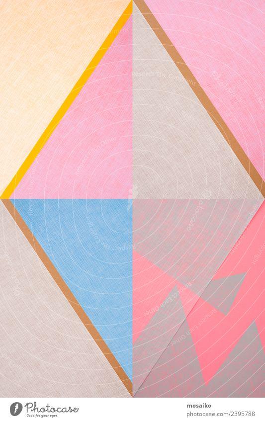 Rhombus - grafische Formen Bildung Kunst ästhetisch elegant Spitze trashig blau gelb grau rosa Freude Euphorie diszipliniert Design einzigartig Farbe