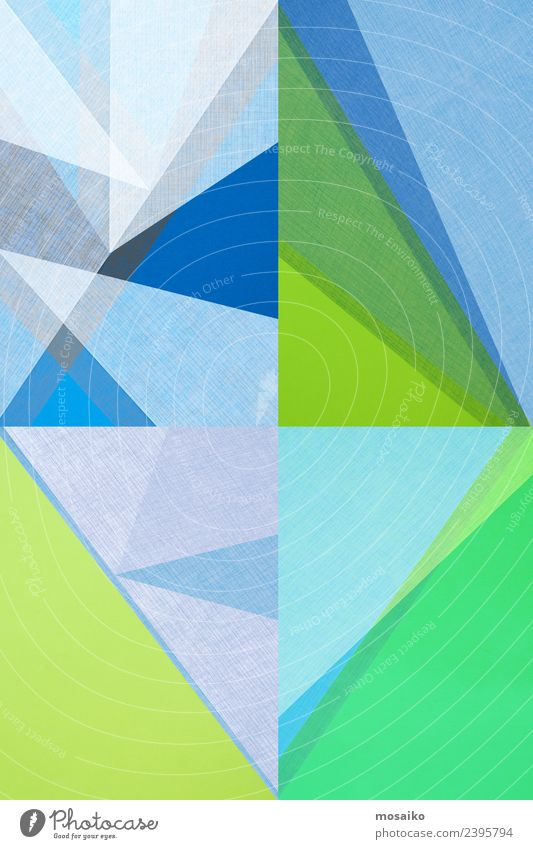 Rhombus - grafische Formen blau Farbe grün Freude Lifestyle Leben Stil Kunst Party Feste & Feiern Design Zufriedenheit modern elegant ästhetisch Kultur