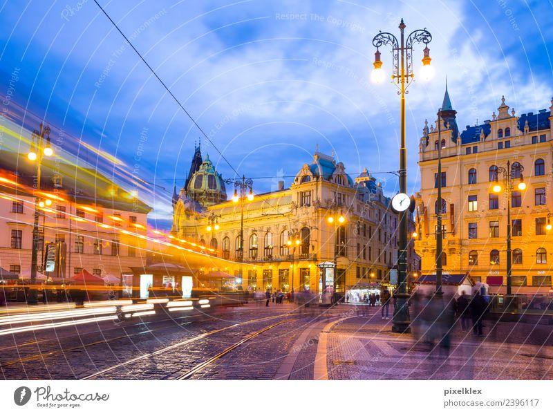 Platz der Republik, Prag Ferien & Urlaub & Reisen Stadt Haus Straße Architektur Gebäude Tourismus Ausflug Verkehr Europa Kultur historisch Sehenswürdigkeit