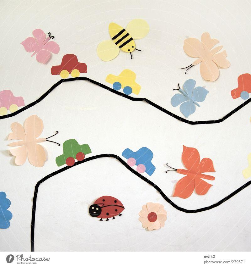 Fahrschule blau grün schön rot gelb Straße Spielen Blüte PKW Kunst rosa Freizeit & Hobby Verkehr Dekoration & Verzierung Papier einzigartig