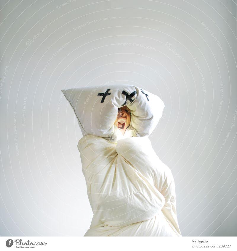 muss nie weinen Mensch maskulin Mann Erwachsene 1 stehen weiß Eisbär Karnevalskostüm weich Decke Bettdecke Kopfkissen Comic schreien laut Artenschutz bedrohlich
