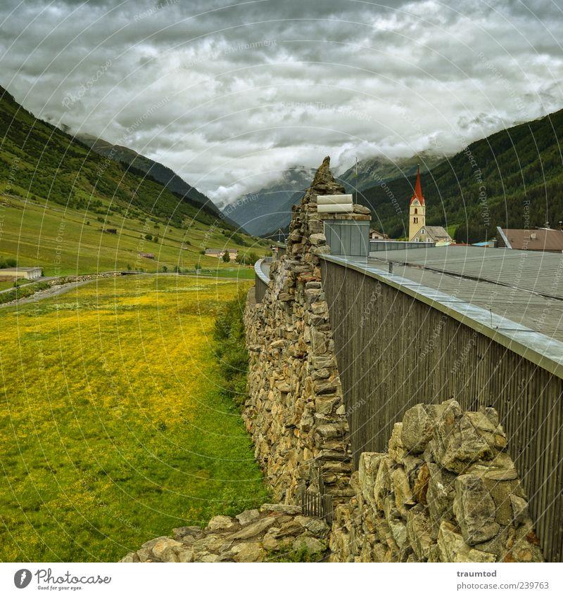 Galtür, Österreich Umwelt Natur Landschaft Pflanze Erde Luft Himmel Wolken Sommer Herbst Wetter schlechtes Wetter Baum Gras Wiese Feld Wald Hügel Felsen Alpen