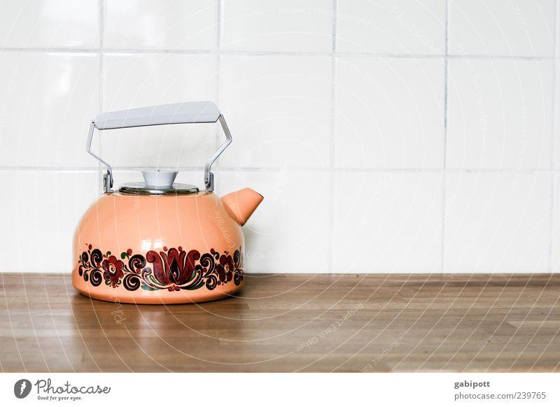 Mein Teekesselchen kann... alt rot gelb braun Design stehen Wandel & Veränderung retro Vergänglichkeit Küche Fliesen u. Kacheln Vergangenheit exotisch sparsam Ordnungsliebe Kessel