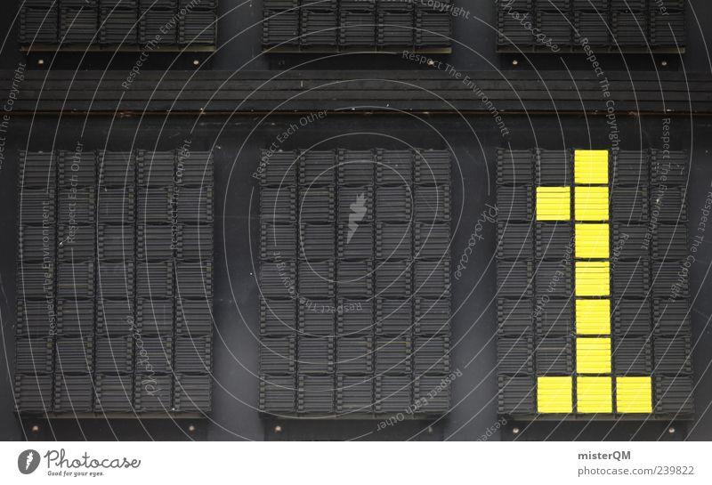 You can do it. ästhetisch Erfolg erste Nummer eins Ziffern & Zahlen Elite Ziel gelb schwarz Anzeige Bildpunkt Farbfoto Nahaufnahme Detailaufnahme Experiment