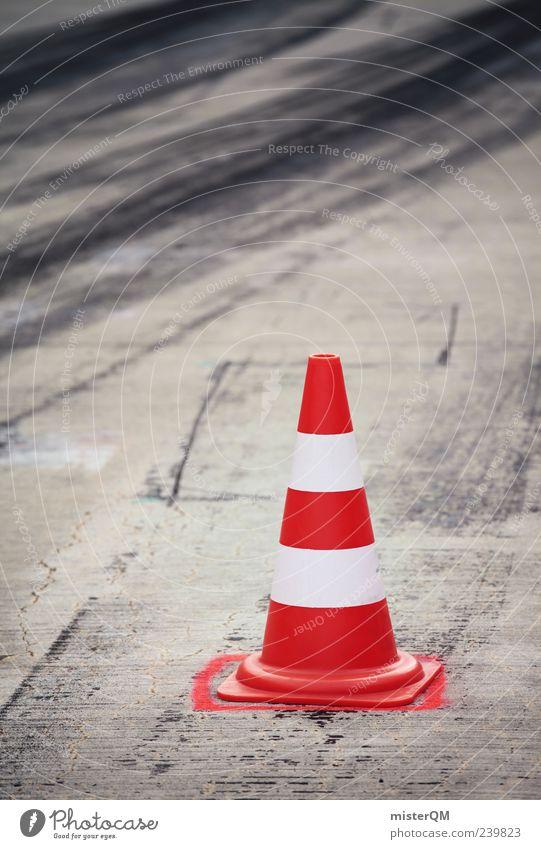 Grip. rot Schilder & Markierungen Verkehr Symbole & Metaphern Spuren Gesetze und Verordnungen Autorennen Reifenspuren Motorsport Fahrbahnmarkierung kegelförmig