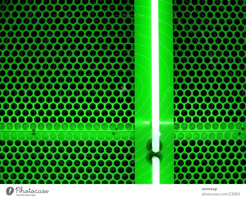 Grün+ grün Lampe Beleuchtung Metall Architektur Hintergrundbild Netzwerk Punkt leuchten Verbindung Loch positiv Geometrie Neonlicht Symmetrie