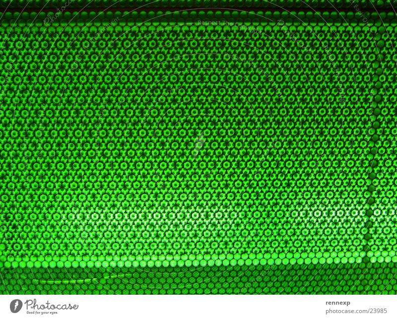 XXXGREENXXX Natur grün Wiese Architektur Metall Lampe modern leuchten Loch gefangen Gitter Neonlicht Blech Justizvollzugsanstalt grell strahlend