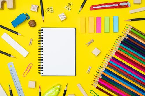 blau Farbe weiß schwarz Business Kunst Schule Mode Arbeit & Erwerbstätigkeit oben Design Büro modern Aussicht Kreativität Tisch