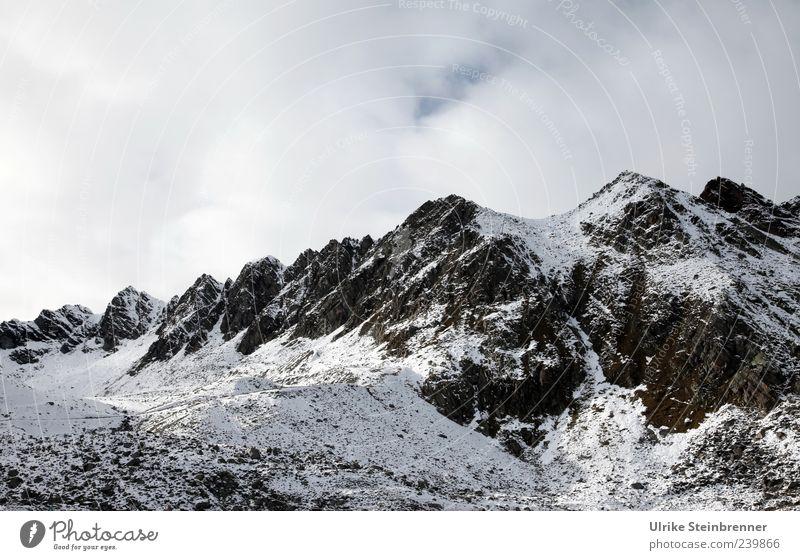 Der Berg ruft! Himmel Natur Einsamkeit Wolken Umwelt Landschaft Schnee Berge u. Gebirge Herbst Stein Luft Eis Erde Wetter Felsen hoch
