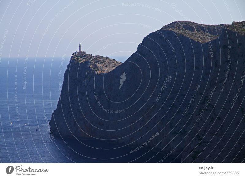 land's end Ferien & Urlaub & Reisen Tourismus Abenteuer Sommerurlaub Meer Insel Natur Landschaft Wasser Horizont Felsen gigantisch hoch blau Sicherheit