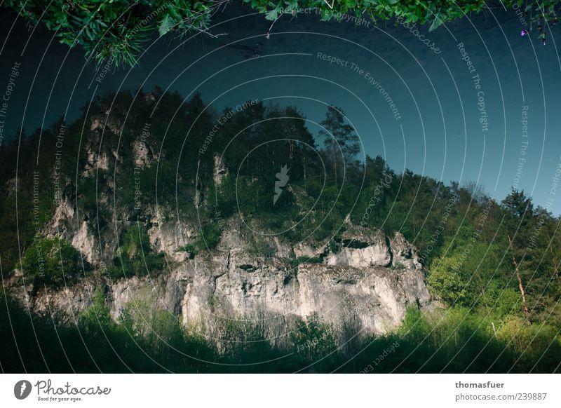 Undine sieht die Welt Landschaft Luft Wasser Himmel Frühling Sommer Schönes Wetter Baum Moos Wald Hügel Felsen Berge u. Gebirge Teich See Bach Fluss blau grün