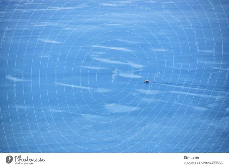 Blue Sea Tourismus Ausflug Ferne Sommer Sommerurlaub Meer Umwelt Wasser Sonne Schönes Wetter Wind Wellen See Schifffahrt Bootsfahrt Fischerboot Motorboot