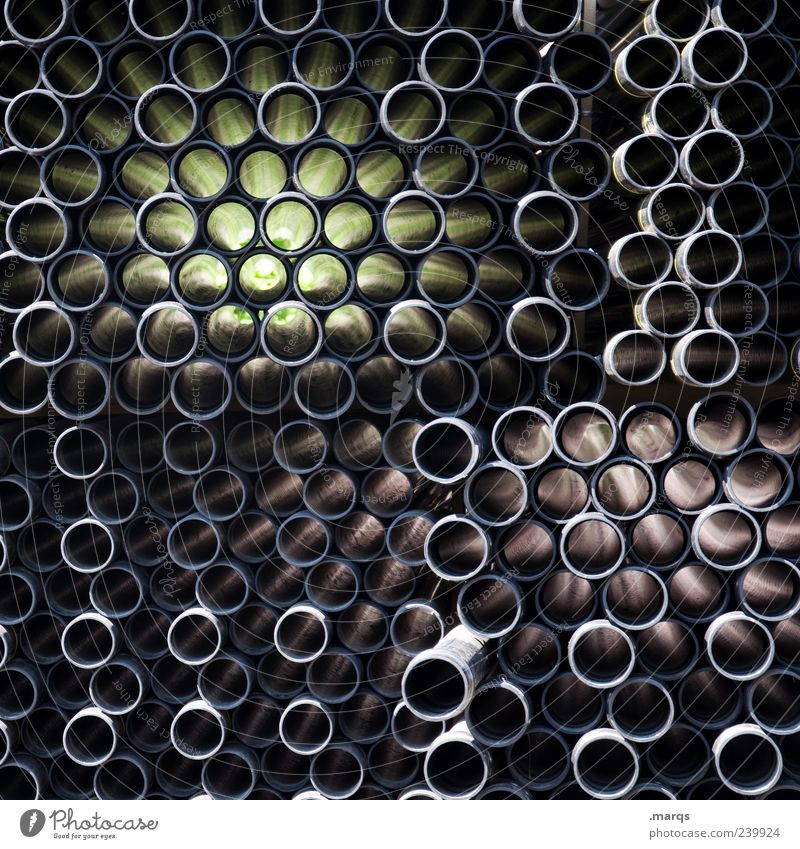 Distort schwarz dunkel verrückt Kreis viele Kreativität Kunststoff Unendlichkeit Zusammenhalt Röhren chaotisch Dynamik Irritation komplex Raster Dekoration & Verzierung