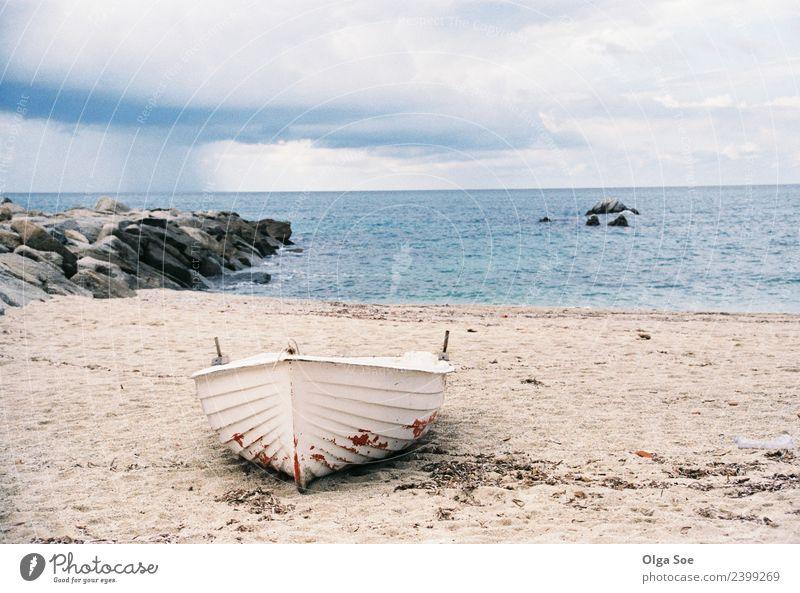 Himmel Ferien & Urlaub & Reisen Sommer schön Landschaft Meer Erholung Strand Reisefotografie Lifestyle Tourismus Freiheit Stimmung Wasserfahrzeug Regen
