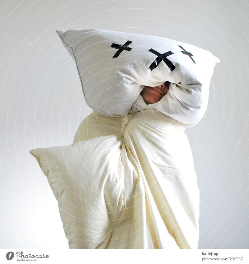 bitte lächeln Mensch Tier Erwachsene lachen lustig Lächeln Freundlichkeit verstecken Kissen kuschlig Begrüßung Bär Bettdecke Daunen Kopfkissen