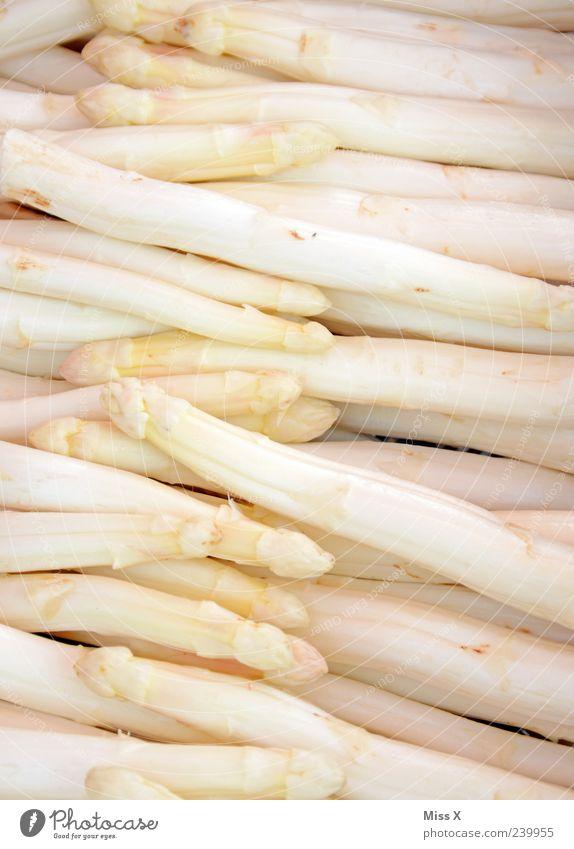 Spargel Lebensmittel Gemüse Ernährung Bioprodukte Vegetarische Ernährung frisch Gesundheit lecker weiß Appetit & Hunger Farbfoto Nahaufnahme Muster Menschenleer