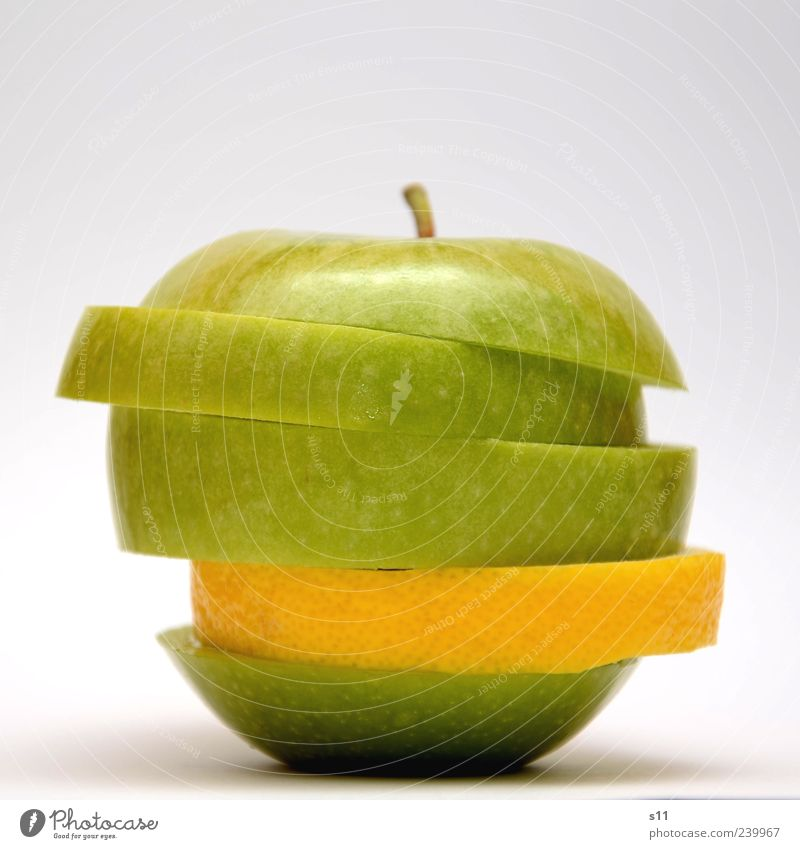Vitaminbombe II grün Ernährung Lebensmittel hell Gesundheit außergewöhnlich modern Gesunde Ernährung Apfel Teile u. Stücke Stengel Bioprodukte exotisch Scheibe