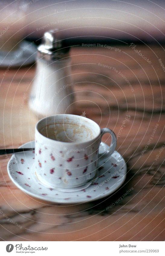 Analoges Heißgetränk Ernährung elegant Getränk Kaffee Kitsch Café Geschirr Tasse analog Zucker altmodisch Marmor Gastronomie Kakao Kaffeetasse geblümt