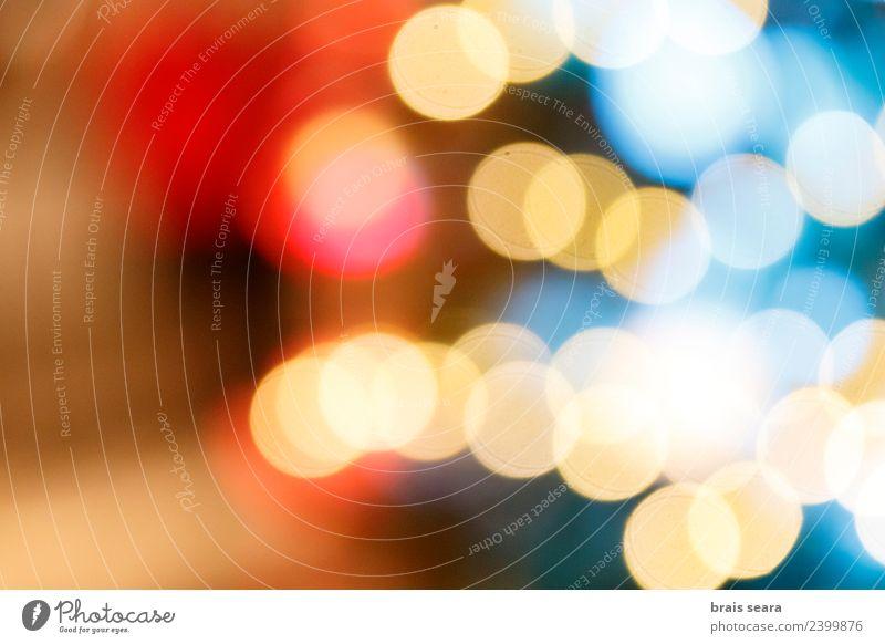 Bokeh Lichter Design Glück schön Dekoration & Verzierung Nachtleben Feste & Feiern Weihnachten & Advent Natur Landschaft Himmel glänzend dunkel hell modern neu