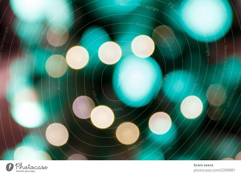 Bokeh Design Glück schön Dekoration & Verzierung Nachtleben Feste & Feiern Weihnachten & Advent Natur Landschaft Himmel glänzend dunkel hell modern neu blau rot