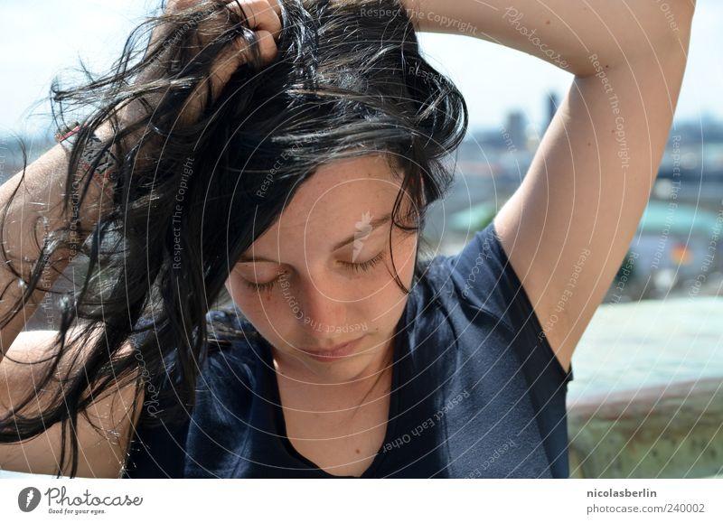 Anaïs Mensch Jugendliche schön Erwachsene Gesicht Erholung feminin Leben Gefühle Haare & Frisuren träumen Junge Frau natürlich 18-30 Jahre authentisch