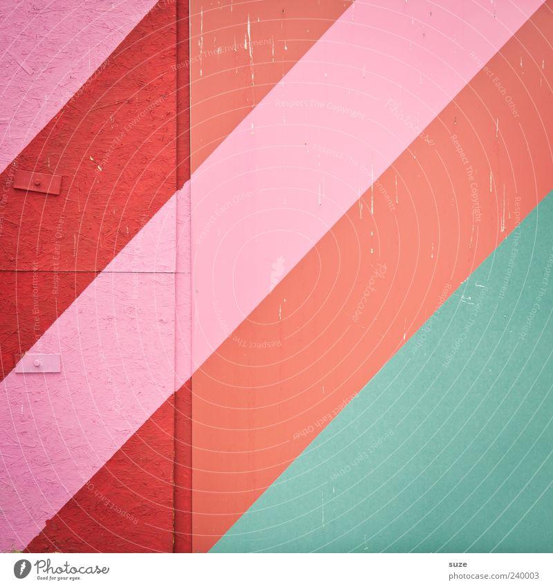 Frauen-WM Stil Design Mauer Wand Streifen eckig einfach modern grün rosa rot Grafik u. Illustration diagonal Hintergrundbild Linie Farbenspiel Neigung