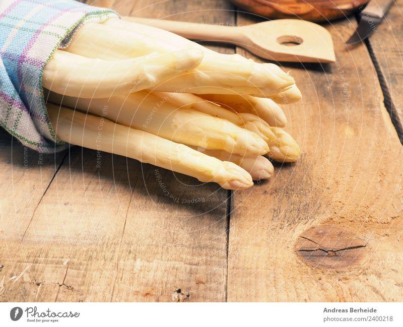 Weißer Spargel Gesunde Ernährung gelb Stil springen lecker Bioprodukte Dessert Vegetarische Ernährung Mittagessen Festessen beige Feinschmecker