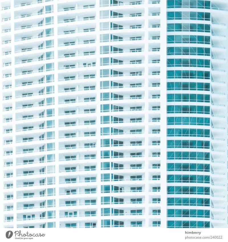 haus am meer blau weiß Haus Architektur Gebäude Stil Fassade Design Hochhaus trist Bauwerk